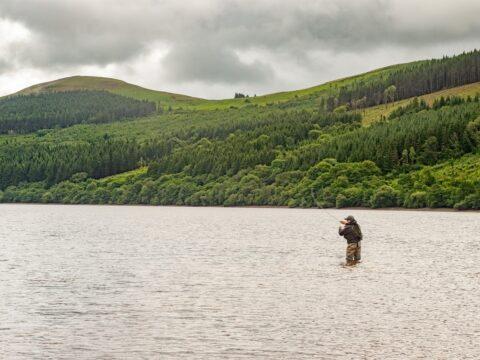 Fishing on Talybont Reservoir