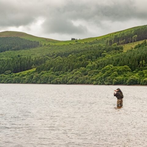 Fishing on Talybont Reservoir
